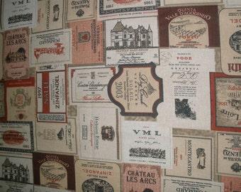 Fabric labels wine / vintage