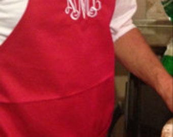 Monogrammed or personalized aprons