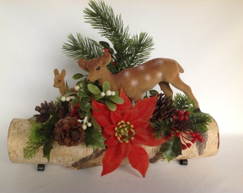 Centerpiece, Reindeer, Vintage Christmas, 1950s, Christmas Decor, Christmas Reindeer, Christmas Decoration, Reindeer Centerpiece, Christmas