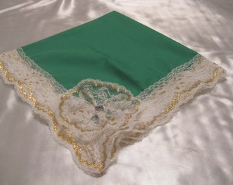 Large handkerchief which may be used as a church lap throw