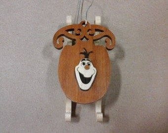 Frozen Olaf sled ornament.