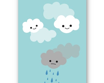 Gloomy Cloud Greeting Card