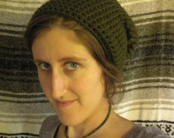 Simple Slouchy Green Hat