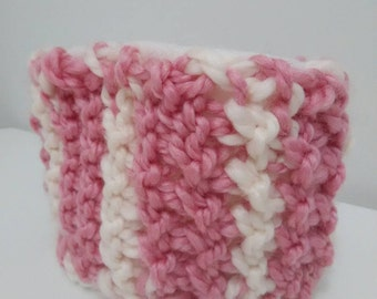 Child's Pink and Cream Fleece-Lined Neck Warmer
