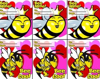 Bee Mine Valentine Printable