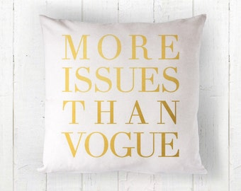 Gold Vogue Pillow