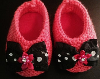 Handmade Knitted Booties...Girls & Boys