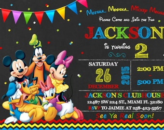Mickey Mouse Party Invitations gangcraftnet