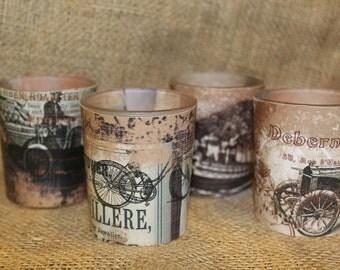 Vintage-Patterned Votive Candle Holder