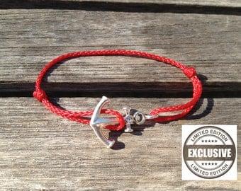 925 Silver anchor bracelet marine rope