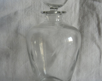 Old chiseled glass Carafe