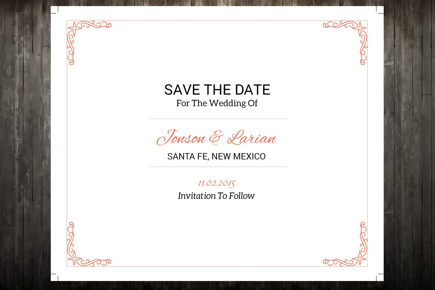 Sale save the date template wedding save the date postcard for Save the date postcard template free