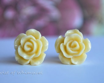 Rose Stud Earrings- 12MM