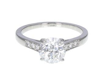 GIA Certificated 1.50ct Diamond Solitaire Ring in Platinum