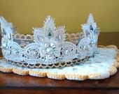 Irish Dance Tiara, lace irish dance tiara, princess tiara