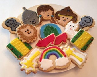 Homemade Decorated Wizard of Oz Cookies