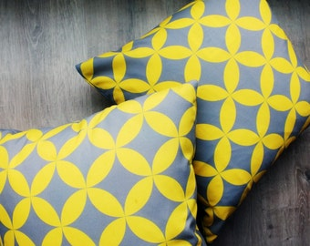 Yellow Kawung Cushion Cover