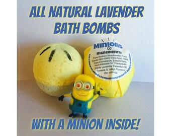 Minions Kids Bath Bomb - Toy Lavender Essential Oil Bath Bomb Fizzie