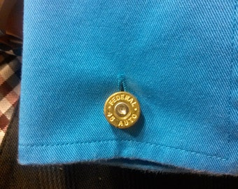 Cufflinks - .45 cal bullet casing Pair
