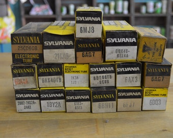Large lot of 18 vintage Sylvania Electronic Tubes NOS - many different types - NOT TESTED