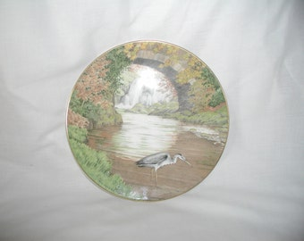 "Royal Doulton Bone China Collectible Plate Entitled ""The Heron"" 1986"
