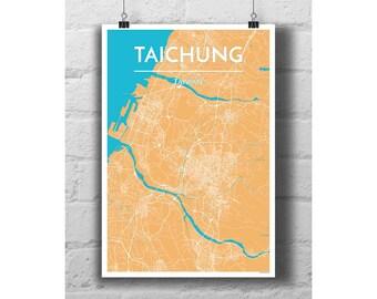 Taichung, Taiwan - City Map Print