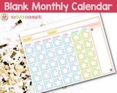 Blank Monthly Calendar - ...