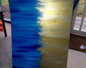 Abstract Brushstroke Painting