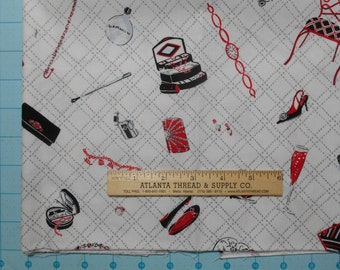 Bon Vivant Paige Stanley Miller Windham Cotton Fabric Fat Quarter 18 X 22