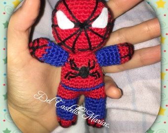 Spiderman superhero crochet crochet