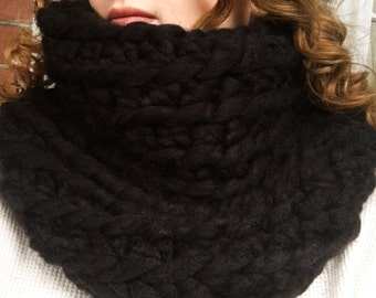 Artisan Made Raven Super Chunky Infinity Scarf Cowl