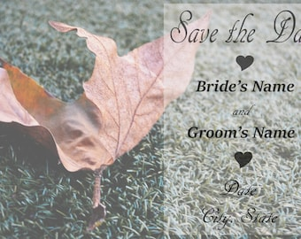 Save the Date Fall Wedding, set of 50