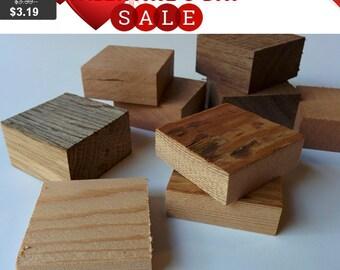 10 Square Unfinished Wood Blocks