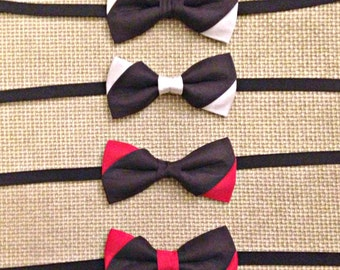 Black silk bow tie and white/Red Wing
