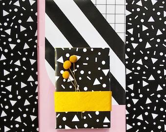 Black and White Confetti Gift Wrap