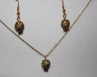 Gold crystal disco balls