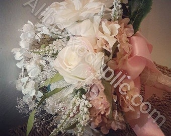 Romantic Bridal and Bridesmaid Bouquets