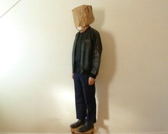 Vintage Adidas leather bomber jacket, rare NOS, unworn, 1990