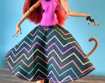 Pink and Chevron Halter Top Monster High Dress