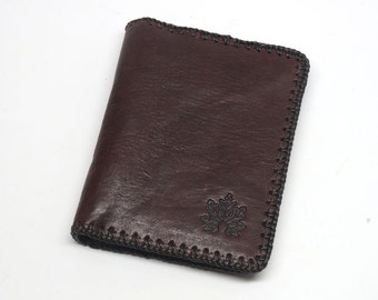 Mens wallet, man wallet,leather wallet, dark brown leather wallet, genuine men wallet,Groomen gift, Men's Leather Wallet, slim wallet
