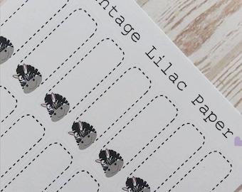 28 Cute Zebra Box Planner Stickers