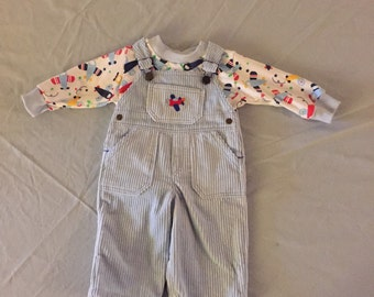 Cordoroy overalls soft and cuddly
