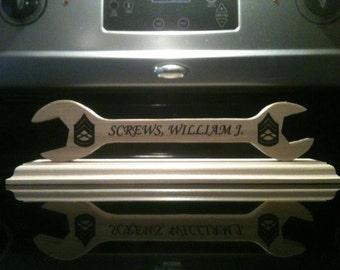 Desk Plaque, Wrench Desk Plaque, Desk Name Plaque
