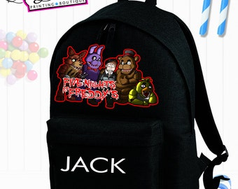 5 Five Night At Freddy's Personalised School Backpack