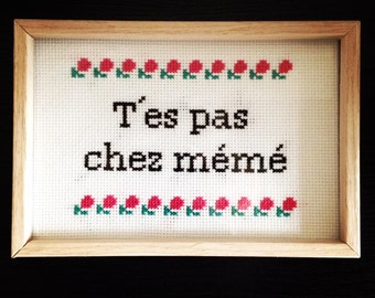 You're not in the same frame framed cross stitch cross stitch