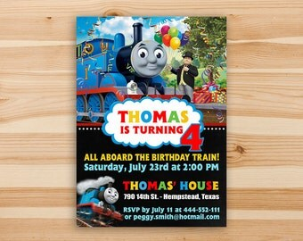 Thomas The Train Invitation, Thomas Invitation, Thomas Birthday Invitation, Thomas The Train, Thomas The Train Party