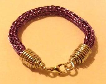 Purple Viking Knit Bracelet