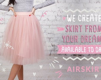 AIRSKIRT different colours Midi and Mini Tulle skirt Tutu skirt