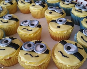 Edible Minion Cupcake Toppers