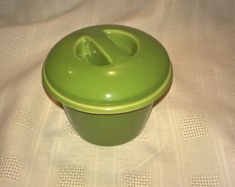 Small Green Pot with Lid